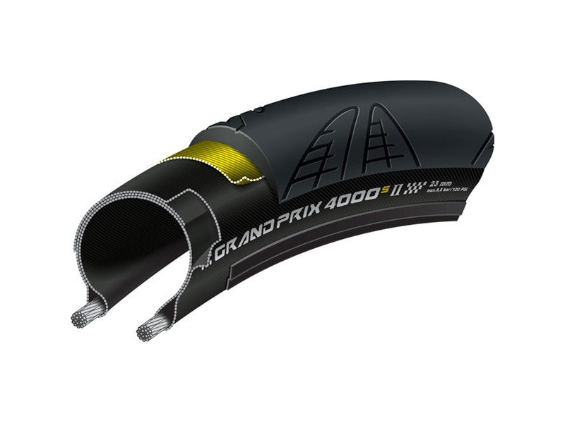 Continental Grand Prix 4000 S II 700 x 28C Black Chili Folding click to zoom image