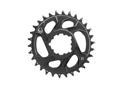 Sram Chain Ring X-sync 2 Direct Mount 6mm Offset Cold Forged Aluminum Black