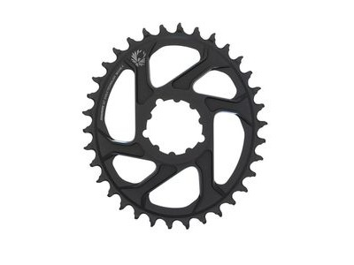 Sram Chain Ring X-sync 2 Oval 34t Direct Mount 6mm Offset Alum Eagle Black 34t