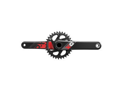 Sram Crank X01 Eagle BB30 175 Red 12 Speed W 32t Xsync Direct Mount Chainring (BB30 Bearings Not Included) Red 12spd 175mm 32t
