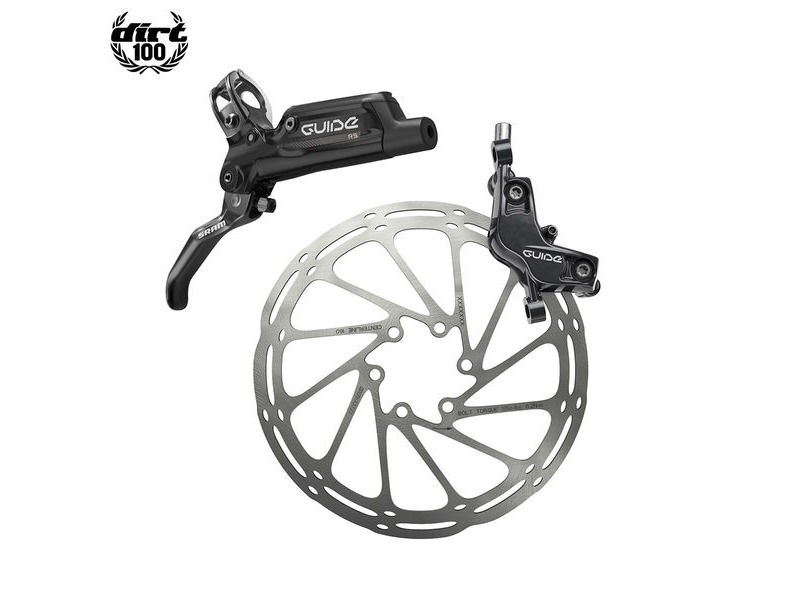 Sram Guide RE - Front 950mm Hose - Gloss Black (Reache-mtb) Guide Lever Code 4piston Caliper (Rotor/Bracketsold Separately) A1 Black 950mm click to zoom image