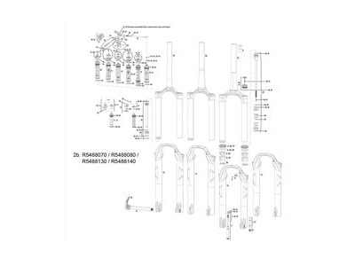 Rock Shox Csu Sid B Rl/Rlt/Rct3 Dualair 26 Alu Tapered White 32mm (120mm Chassis Only) (Not Compatible W/Soloair)
