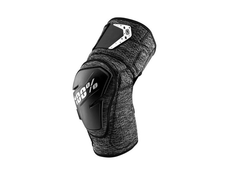100% Fortis Knee Guard Grey Heather / Black click to zoom image