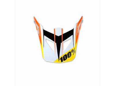100% Status Youth Replacement Visor D-Day White