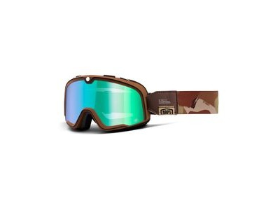 100% Barstow Goggles Pendleton / Flash Green Lens