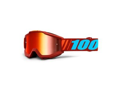 100% Accuri Goggles Dauphine / Red Mirror Lens