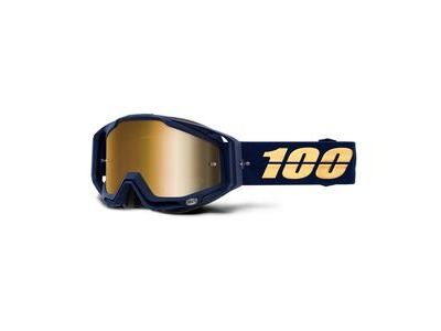 100% Racecraft Goggles Bakken / True Gold Mirror Lens