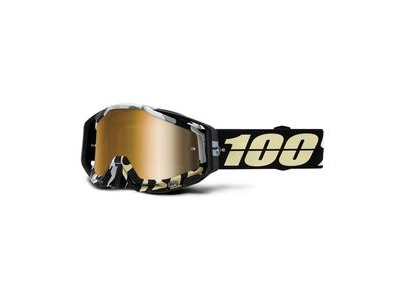 100% Racecraft Goggles Ergoflash / True Gold Mirror Lens