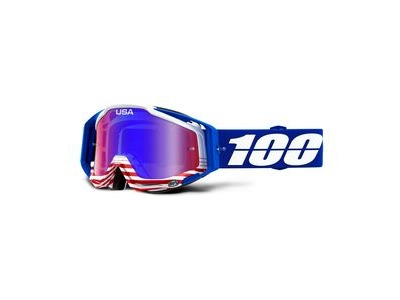 100% Racecraft Goggles Anthem / Red Blue Mirror Lens