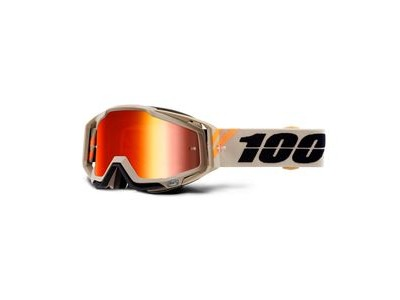 100% Racecraft Goggles Poliet / Red Mirror Lens