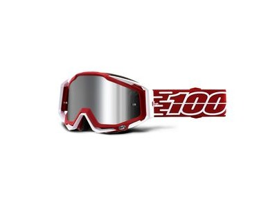 100% Racecraft + Goggles Gustavia / Injected Silver Mirror Lens