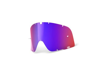 100% Barstow Replacement Lens - Red / Blue Mirror