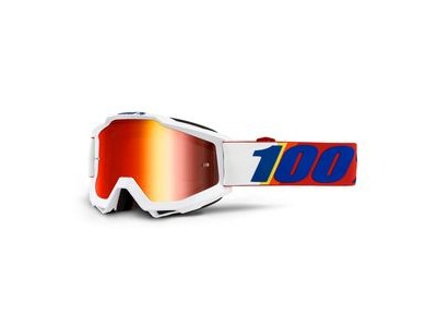 100% Accuri Goggles Minima / Red Mirror Lens