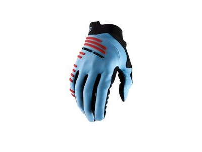 100% R-Core Glove Light Blue / Fluo Red