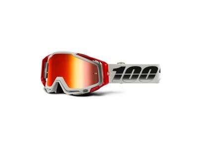 100% Racecraft Goggles Suez / Red Mirror Lens