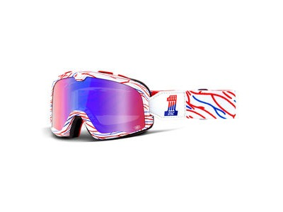 100% Barstow Goggles Death Spray Customs Red/Blue / Red/Blue Mirror Lens