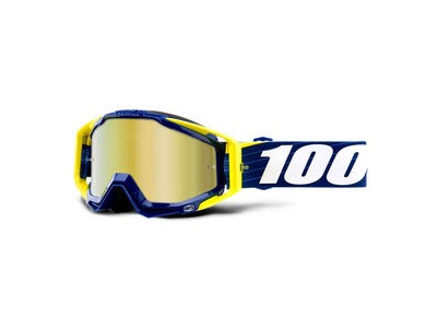 100% Racecraft Goggles Bibal Navy / Gold Mirror Lens