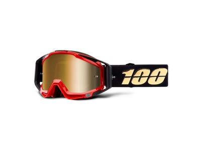 100% Racecraft Goggles Hot Rod / Gold Mirror Lens