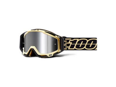 100% Racecraft + Goggles Jiva / Injected Silver Mirror Lens