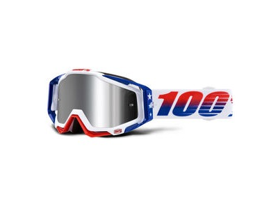 100% Racecraft + Goggles LE MXDN / Injected Silver Mirror Lens