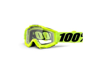 100% Accuri Goggles Fluo Yellow / Clear Lens