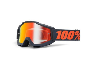 100% Accuri Goggles Gunmetal / Red Mirror Lens
