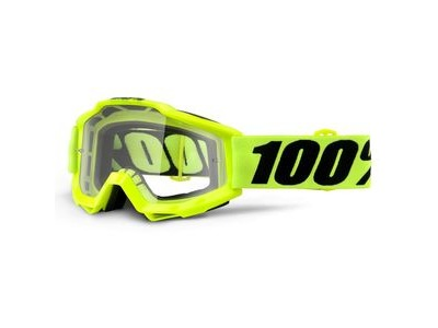 100% Accuri OTG Goggles Fluo Yellow / Clear Lens