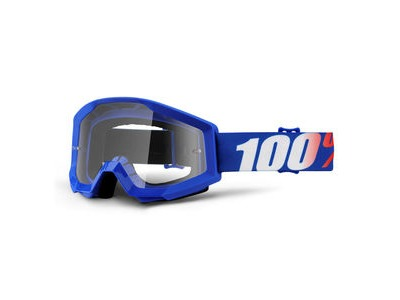 100% Strata Goggles Nation / Clear Lens