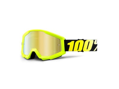 100% Strata Goggles Neon Yellow / Gold Mirror Lens