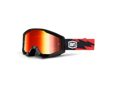 100% Strata Goggles Slash / Red Mirror Lens