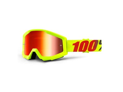 100% Strata Goggles Mercury / Red Mirror Lens
