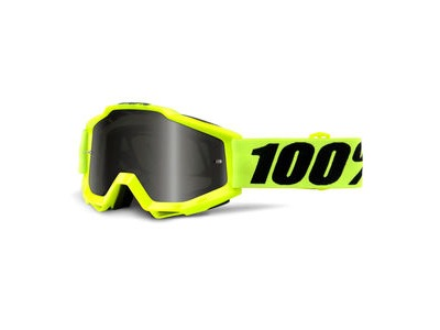 100% Accuri Sand Goggles - Fluo Yellow / Grey Smoke Lens