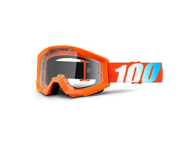 100% Strata Junior Goggles Orange / Clear Lens