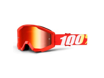 100% Strata Junior Goggles Furnace / Red Mirror Lens