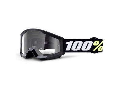 100% Strata Mini Goggles Black / Clear Lens