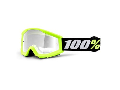 100% Strata Mini Goggles Yellow / Clear Lens