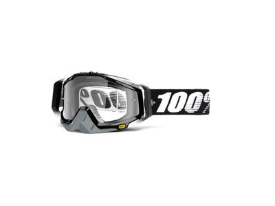 100% Racecraft Goggles Abyss Black / Clear Lens