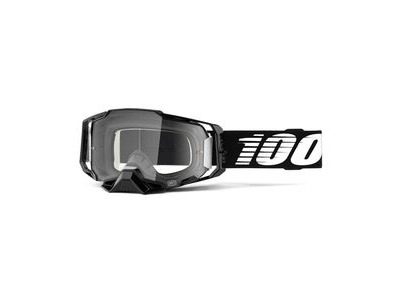 100% Armega Goggles Clear Lens Black Essential
