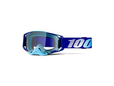 100% Armega Goggles Clear Lens Royal