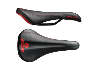 SDG Bel Air Steel Rail Saddle Black/Red