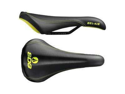 SDG Bel Air Steel Rail Saddle Black/Yellow