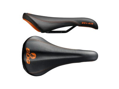 SDG Bel Air Steel Rail Saddle Black/Orange
