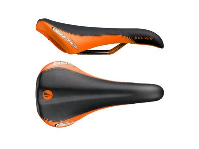 SDG Bel Air Ti-Alloy Rail Saddle Black/Orange