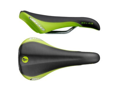 SDG Bel Air Cro-Mo Rail Saddle Black/Green