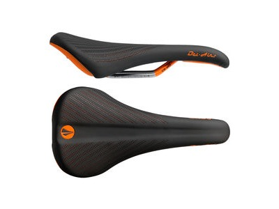 SDG Bel Air 2.0 Cro-Mo Rail Saddle Black/Orange