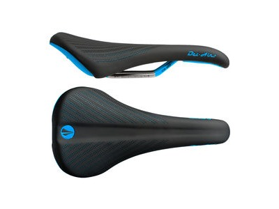 SDG Bel Air 2.0 Cro-Mo Rail Saddle Black/Cyan
