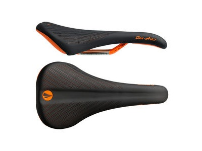 SDG Bel Air 2.0 Ti-Alloy Rail Saddle Black/Orange